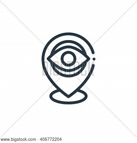 location icon isolated on white background from design thinking collection. location icon thin line