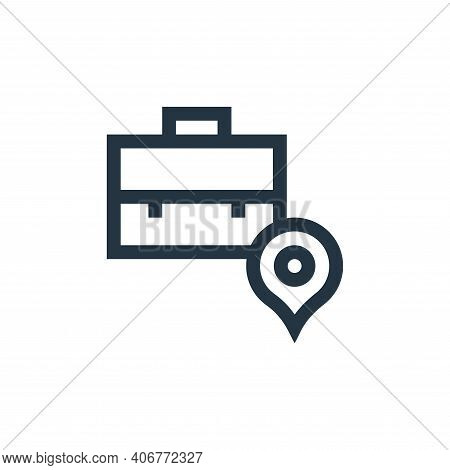 location icon isolated on white background from job resume collection. location icon thin line outli