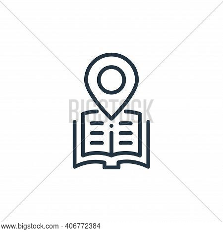 location icon isolated on white background from online learning collection. location icon thin line
