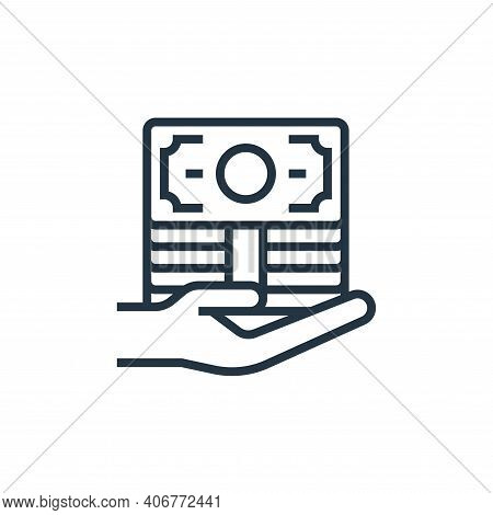 loan icon isolated on white background from economic crisis collection. loan icon thin line outline