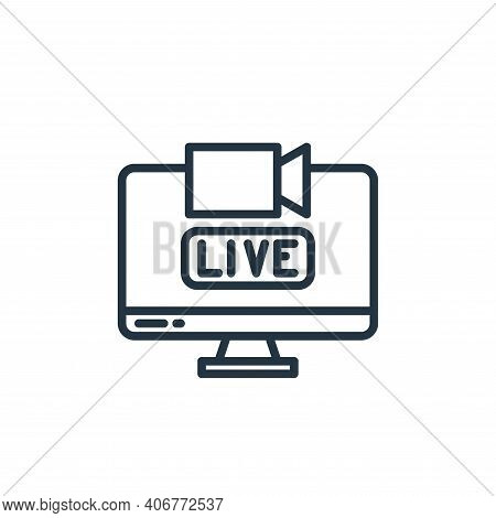 live icon isolated on white background from stay at home collection. live icon thin line outline lin