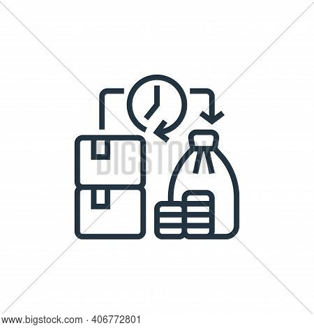 liquidity icon isolated on white background from economic crisis collection. liquidity icon thin lin