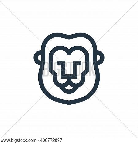 lion icon isolated on white background from holland collection. lion icon thin line outline linear l