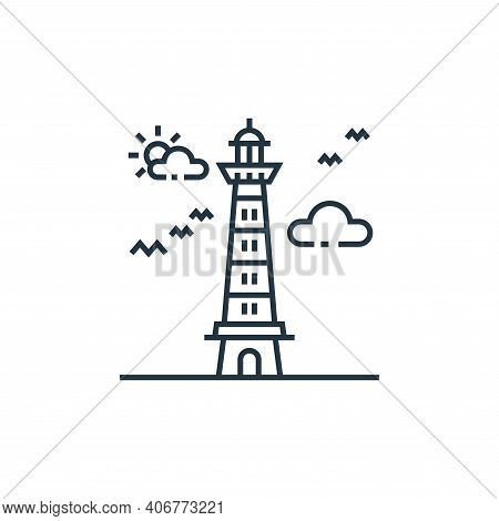 lighthouse icon isolated on white background from tourism collection. lighthouse icon thin line outl