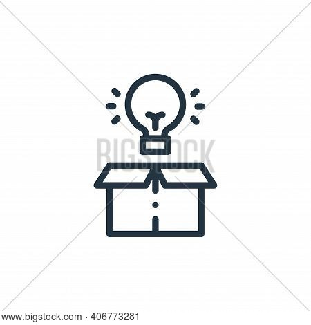 light bulb icon isolated on white background from design thinking collection. light bulb icon thin l