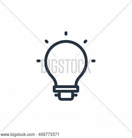 light icon isolated on white background from photography collection. light icon thin line outline li