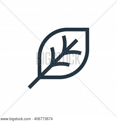 leaf icon isolated on white background from video game elements collection. leaf icon thin line outl