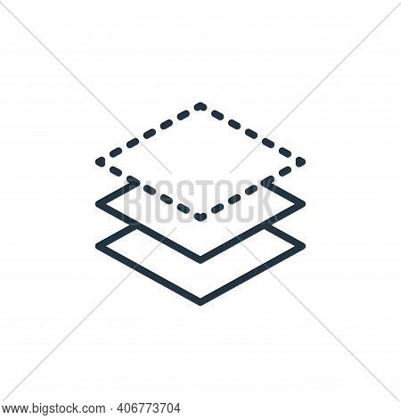 layer icon isolated on white background from graphic design collection. layer icon thin line outline
