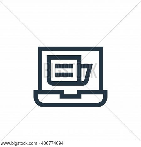 laptop icon isolated on white background from news collection. laptop icon thin line outline linear