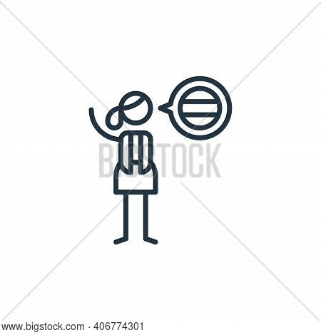 languages icon isolated on white background from general arts collection. languages icon thin line o