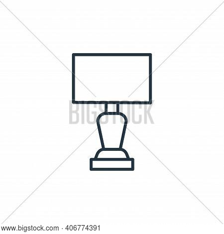lamp icon isolated on white background from interiors collection. lamp icon thin line outline linear