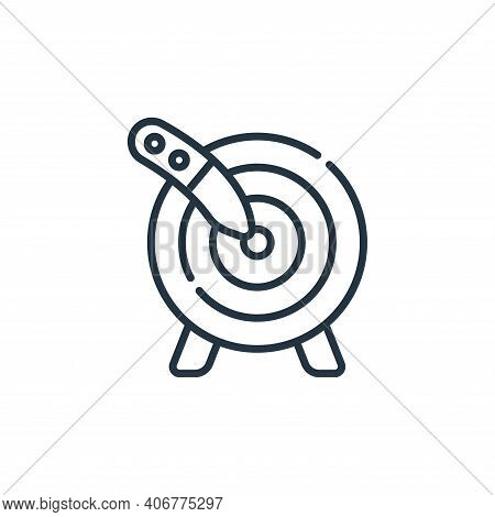 Knife Throwing icon isolated on white background from circus collection. Knife Throwing icon thin li