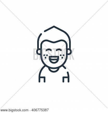 kid icon isolated on white background from dental care collection. kid icon thin line outline linear