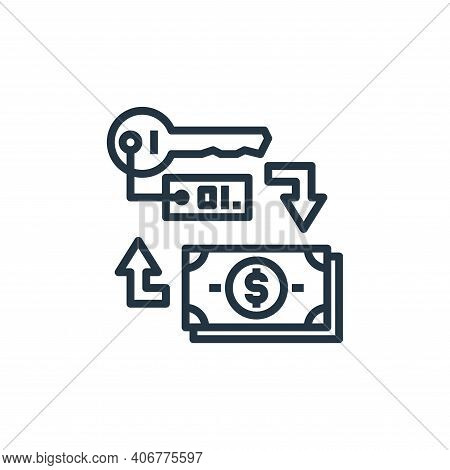 key icon isolated on white background from hotel collection. key icon thin line outline linear key s