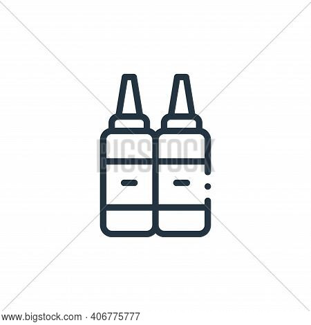 ketchup icon isolated on white background from plastic products collection. ketchup icon thin line o