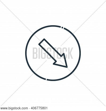 keep right icon isolated on white background from signaling collection. keep right icon thin line ou