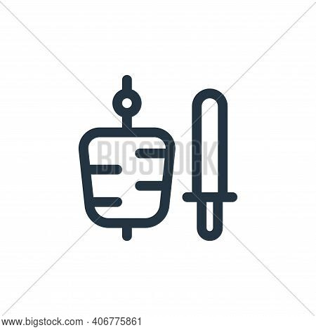 kebab icon isolated on white background from gastronomy collection. kebab icon thin line outline lin