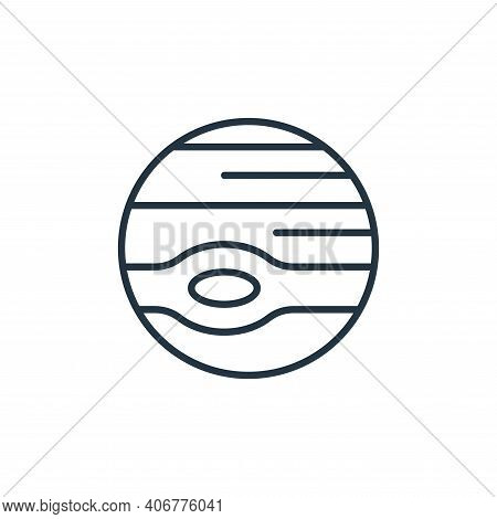 jupiter icon isolated on white background from space collection. jupiter icon thin line outline line