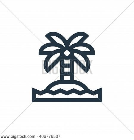 island icon isolated on white background from hippies collection. island icon thin line outline line