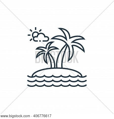 island icon isolated on white background from tourism collection. island icon thin line outline line