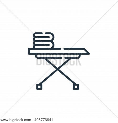 iron board icon isolated on white background from cleaning collection. iron board icon thin line out