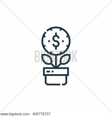 investment icon isolated on white background from marketing collection. investment icon thin line ou