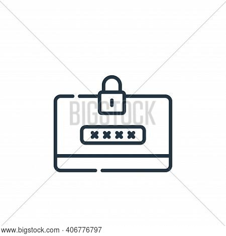 intranet icon isolated on white background from telecommuting collection. intranet icon thin line ou