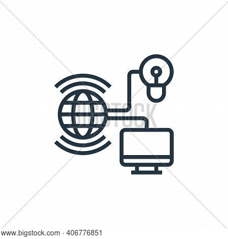 internet of things icon isolated on white background from data analytics collection. internet of thi