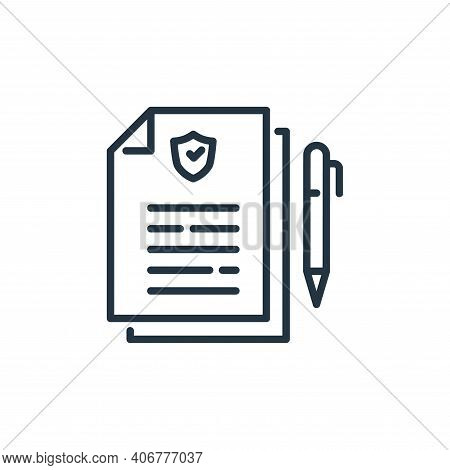 insurance policy icon isolated on white background from insurance collection. insurance policy icon