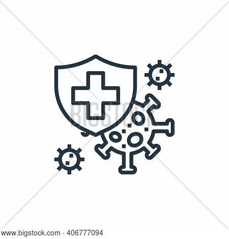 insurance icon isolated on white background from coronavirus collection. insurance icon thin line ou