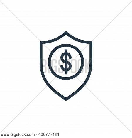 insurance icon isolated on white background from business collection. insurance icon thin line outli