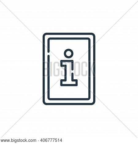 information icon isolated on white background from signals and prohibitions collection. information