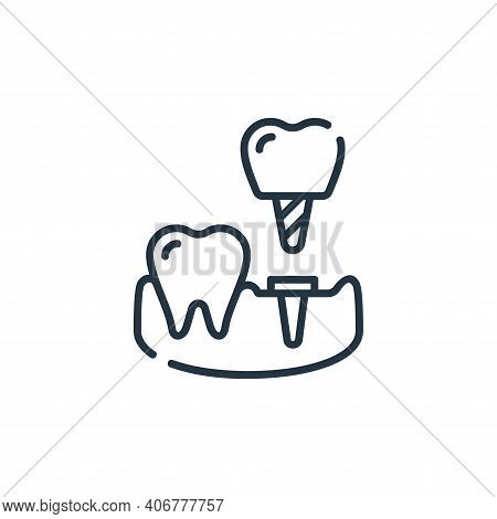 implant icon isolated on white background from dental care collection. implant icon thin line outlin