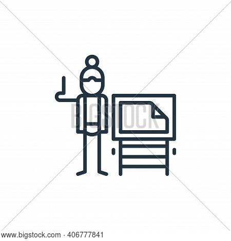 illustration icon isolated on white background from general arts collection. illustration icon thin