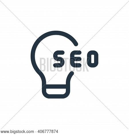 idea icon isolated on white background from web apps seo collection. idea icon thin line outline lin