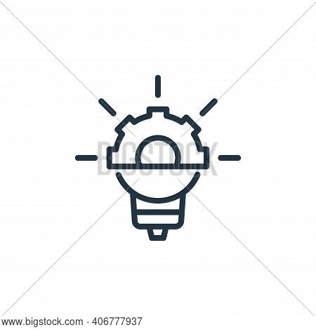 idea icon isolated on white background from engineering collection. idea icon thin line outline line