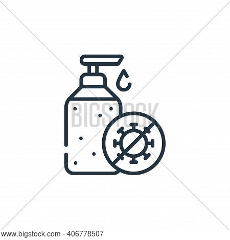 hydroalcoholic gel icon isolated on white background from delivery collection. hydroalcoholic gel ic