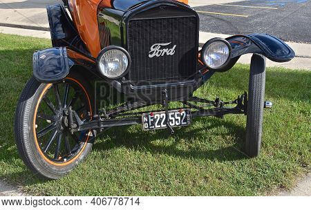 West Fargo North Dakota August 19 2020: The Restored Ford Model T Is A Product Of The Ford Motor Com