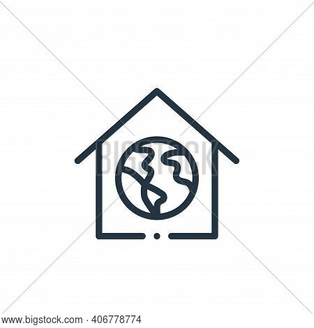 house icon isolated on white background from world love collection. house icon thin line outline lin