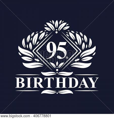 95 Years Birthday Logo, Luxury 95th Birthday Celebration.