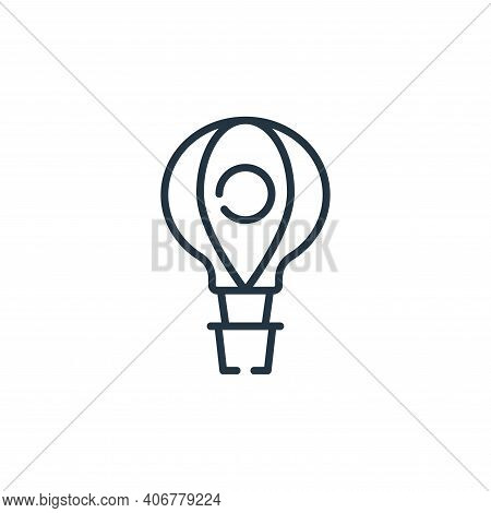 hot air balloon icon isolated on white background from circus collection. hot air balloon icon thin