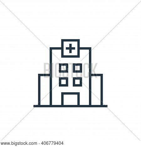 hospital building icon isolated on white background from pandemic novel virus collection. hospital b