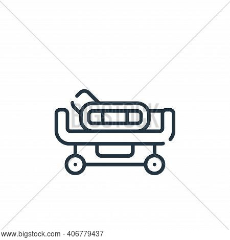 hospital bed icon isolated on white background from medical services collection. hospital bed icon t