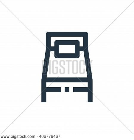 hospital bed icon isolated on white background from medical kit collection. hospital bed icon thin l
