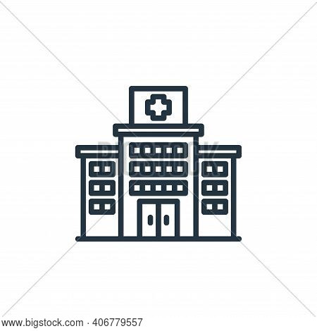 hospital icon isolated on white background from virus collection. hospital icon thin line outline li