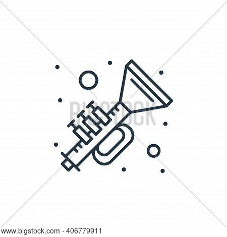horn icon isolated on white background from saint patrick collection. horn icon thin line outline li