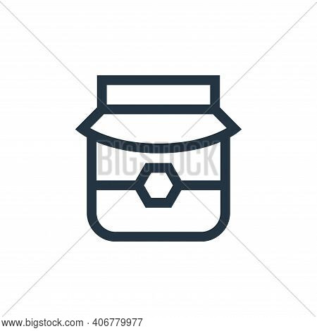 honey icon isolated on white background from vegan collection. honey icon thin line outline linear h