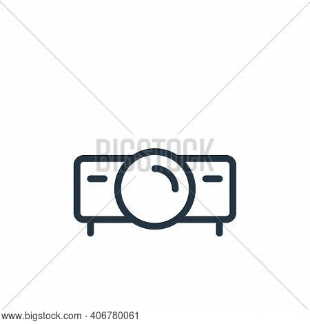 home theater icon isolated on white background from work office supply collection. home theater icon
