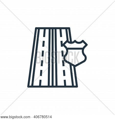 highway icon isolated on white background from motorway collection. highway icon thin line outline l