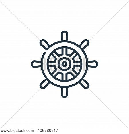 helm icon isolated on white background from management collection. helm icon thin line outline linea